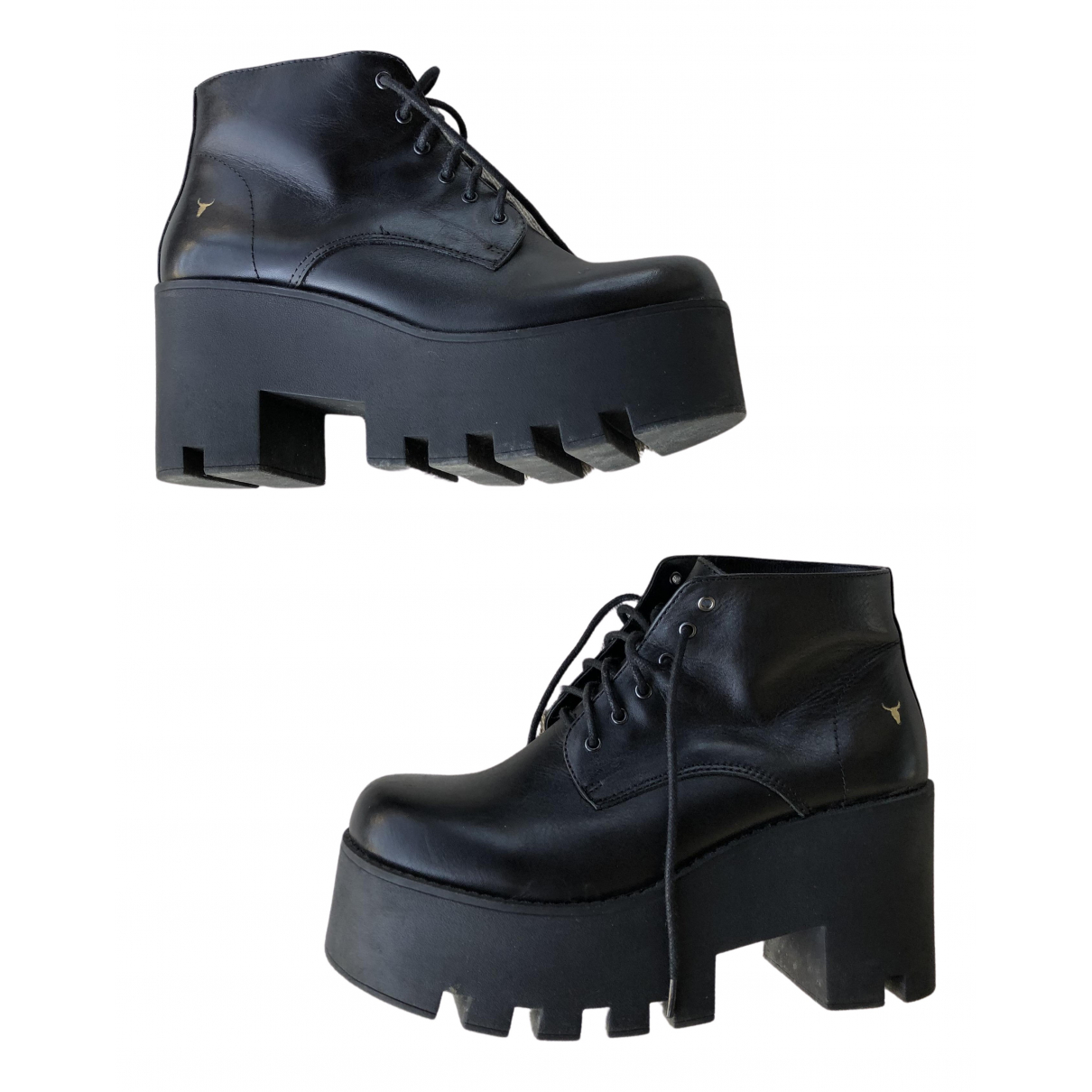 Windsor Smith N Black Leather Ankle boots for Women 37 EU