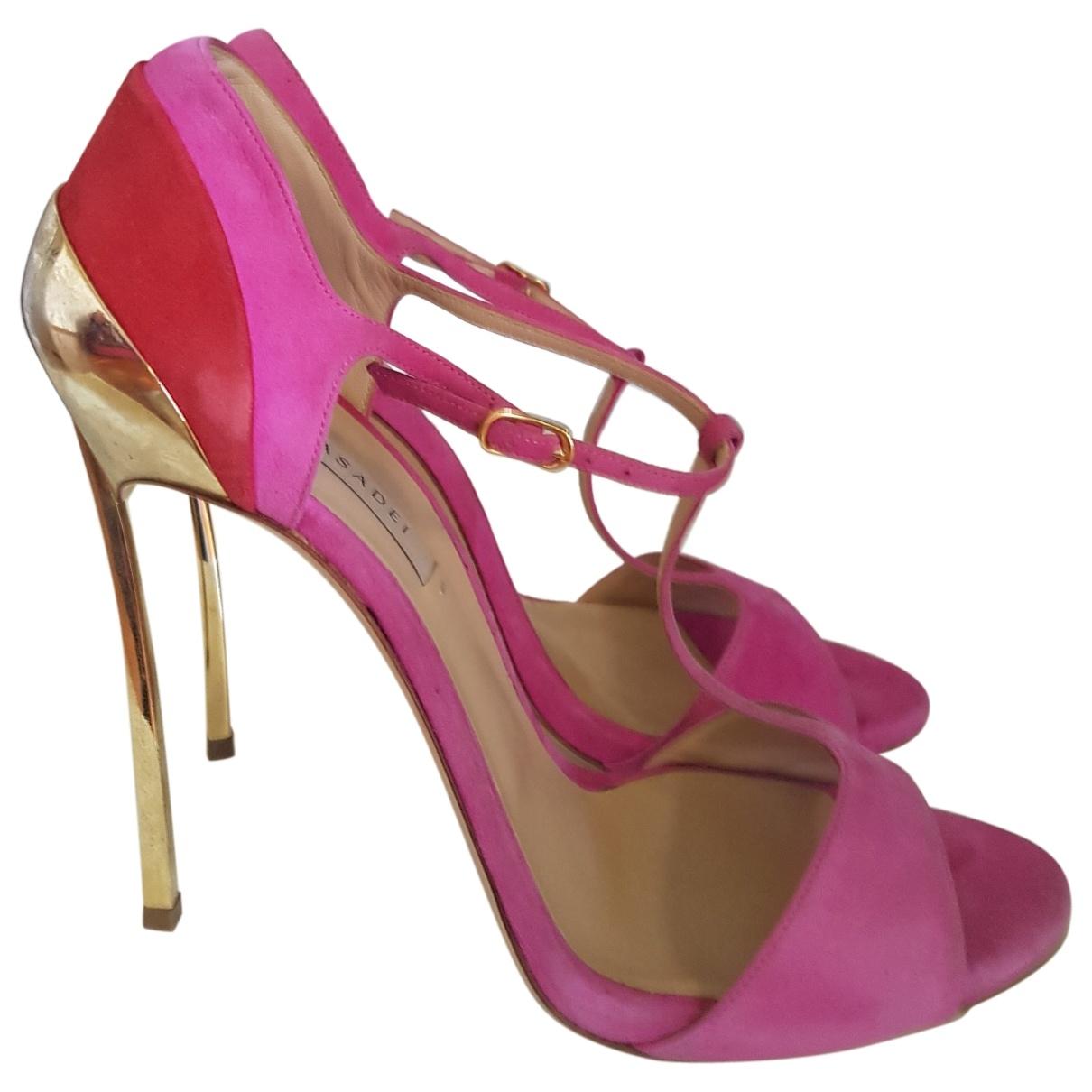 Casadei \N Pink Suede Sandals for Women 40 EU