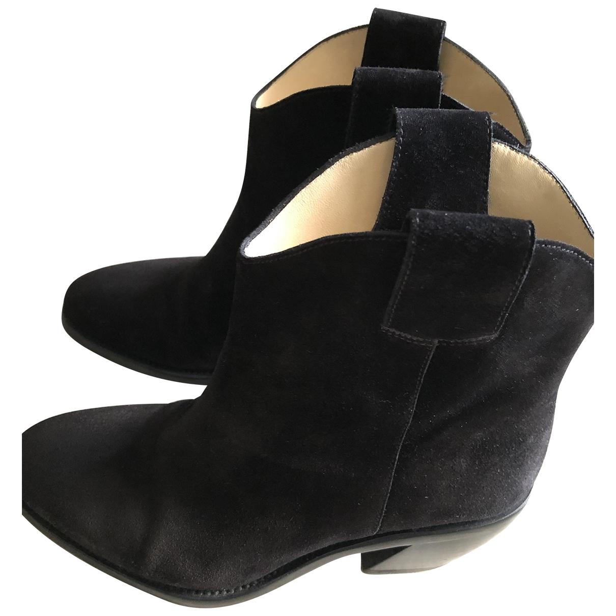 Free Lance - Boots   pour femme en suede - noir