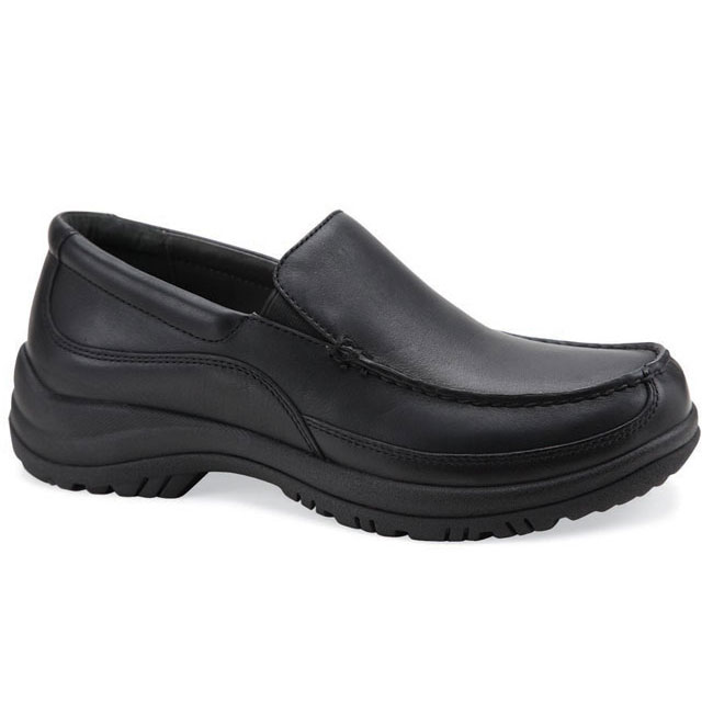 Dansko Wayne Black Leather Slip-Resistant 45