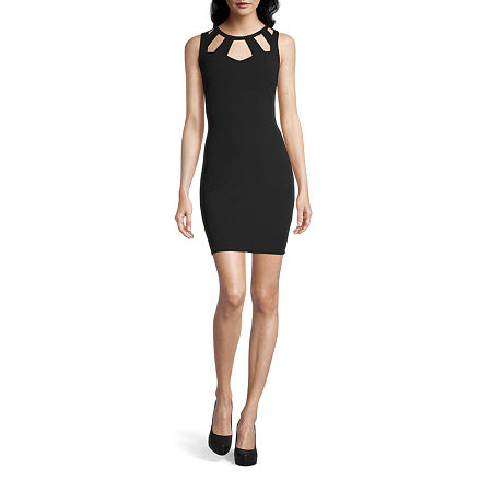 Byer California-Juniors Sleeveless Bodycon Dress, 9 , Black