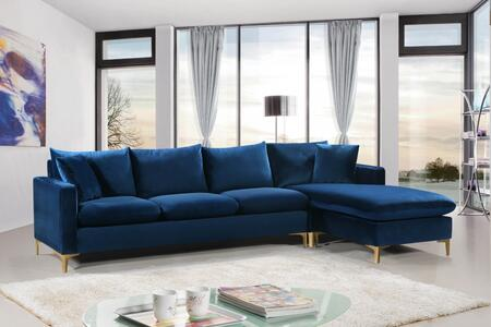 Naomi Collection 636Navy-Sectional 110