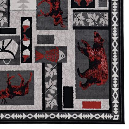 RUGLG1181 8 x 10 Rectangle Area Rug in