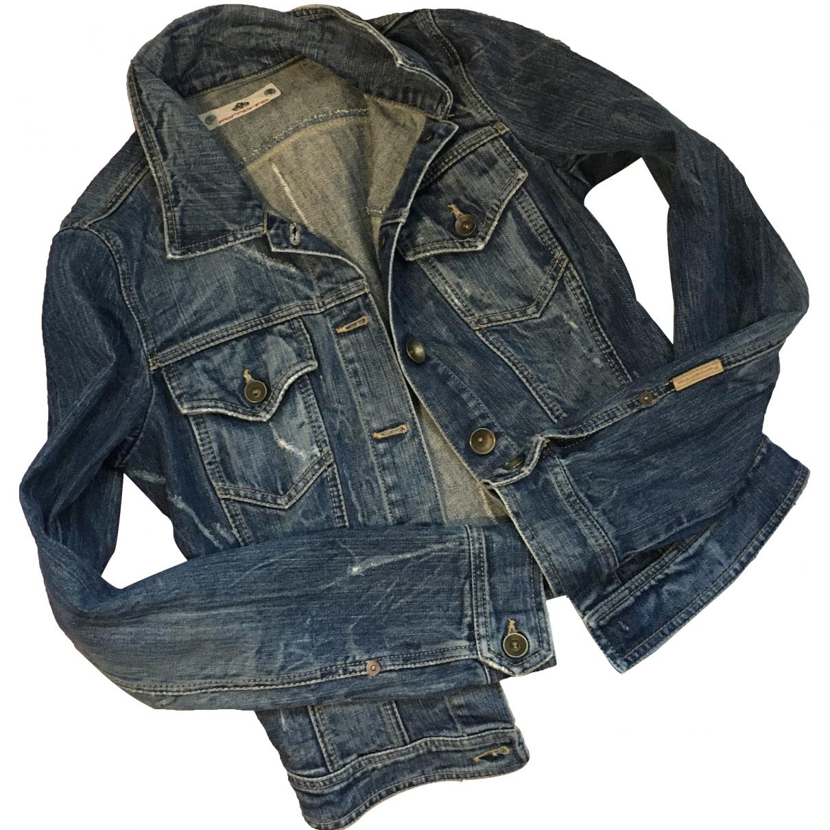 Non Signé / Unsigned \N Blue Denim - Jeans jacket for Women 40 IT