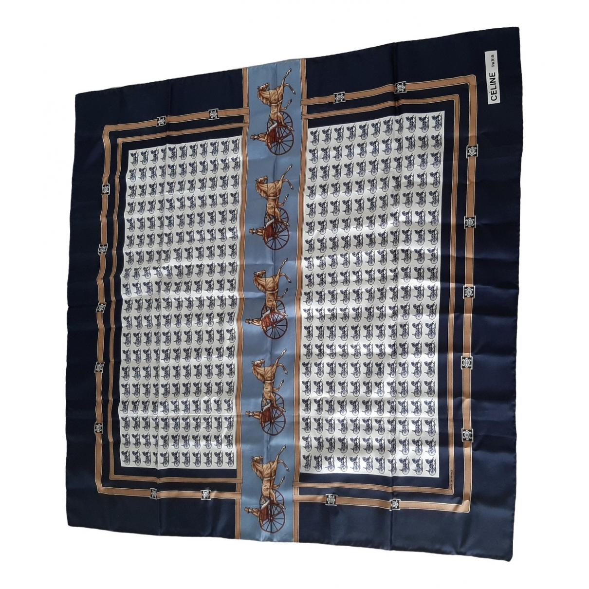 Celine \N Blue Silk Silk handkerchief for Women \N