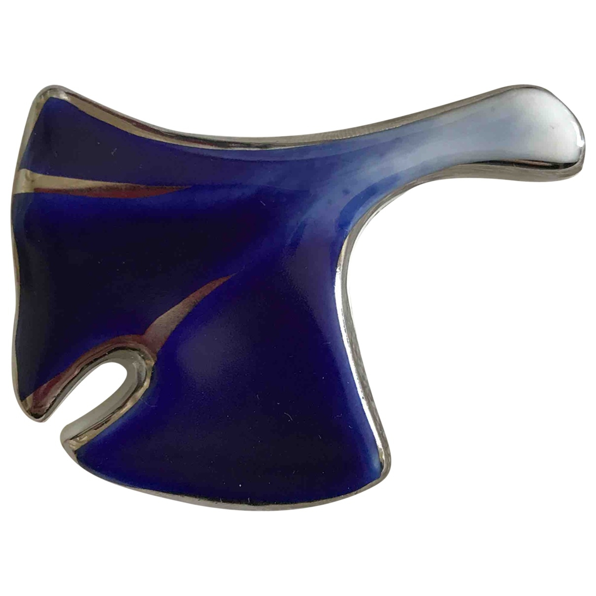 - Broche   pour femme en porcelaine - bleu