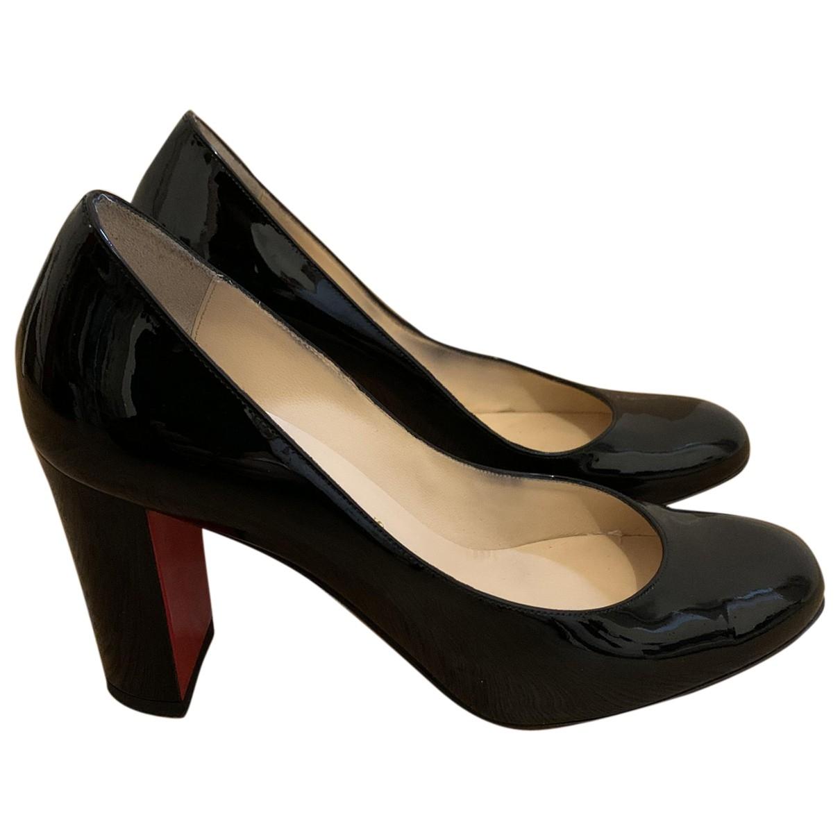 Christian Louboutin \N Black Patent leather Heels for Women 35 EU