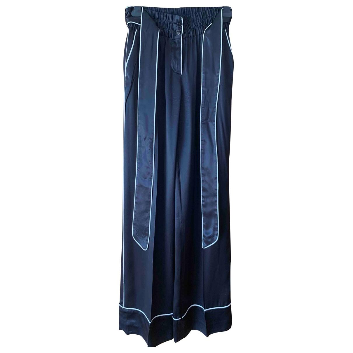 Pantalon recto de Seda Dolce & Gabbana