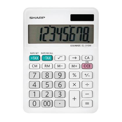 Sharp® EL-330W Calculatrice de bureau, 10 chiffres, alimentation mixte