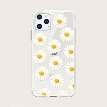 Daisy Print Clear iPhone Case