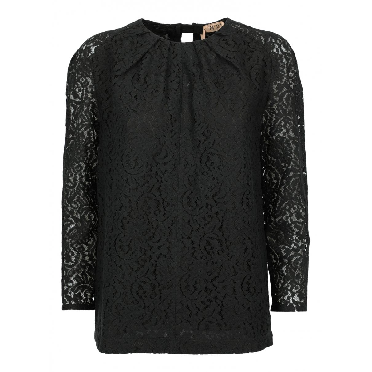 N°21 - Top   pour femme en coton - noir
