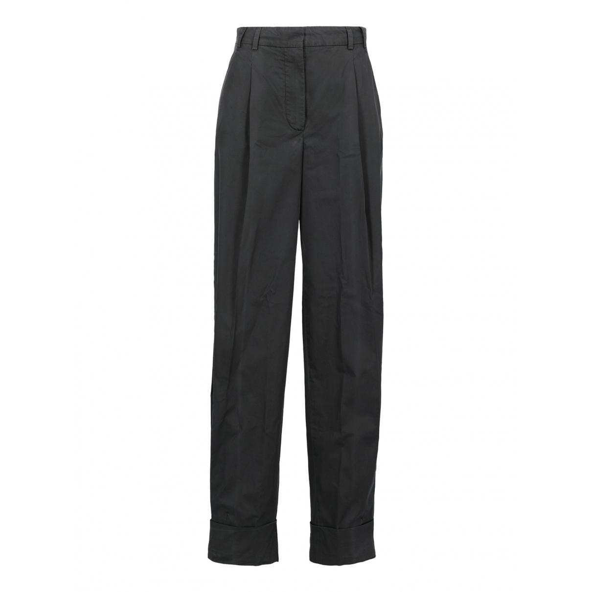 Pantalon en Algodon Azul Sport Max