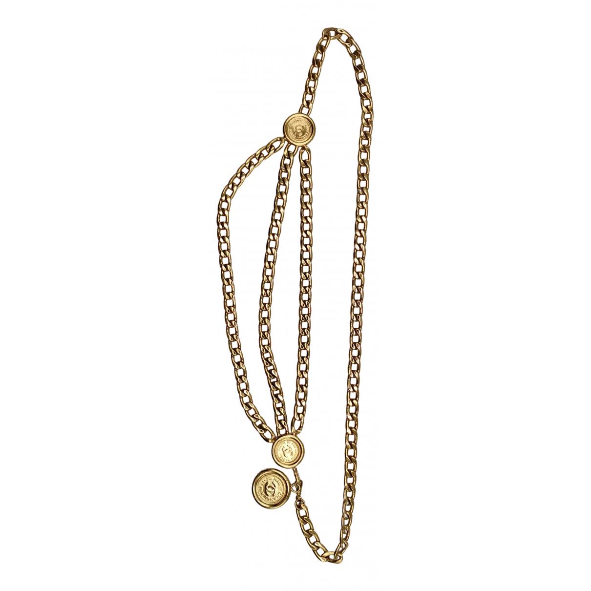 Chanel N Gold Metal belt for Women 90 cm