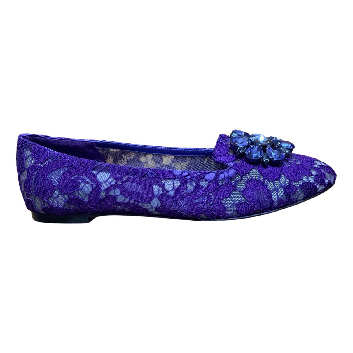 Dolce & Gabbana \N Purple Cloth Ballet flats for Women 39 EU