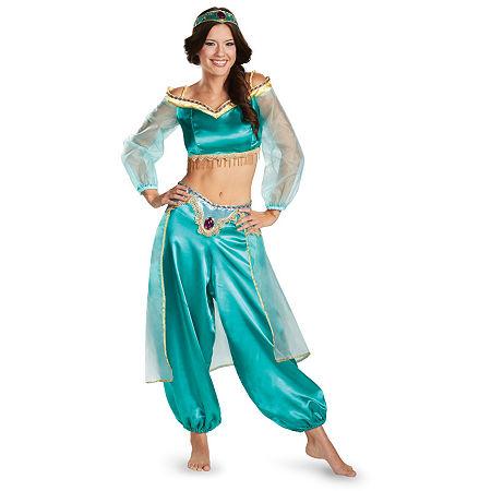 Disney Princess Jasmine Fab Prestige Adult Costume, Large , Blue