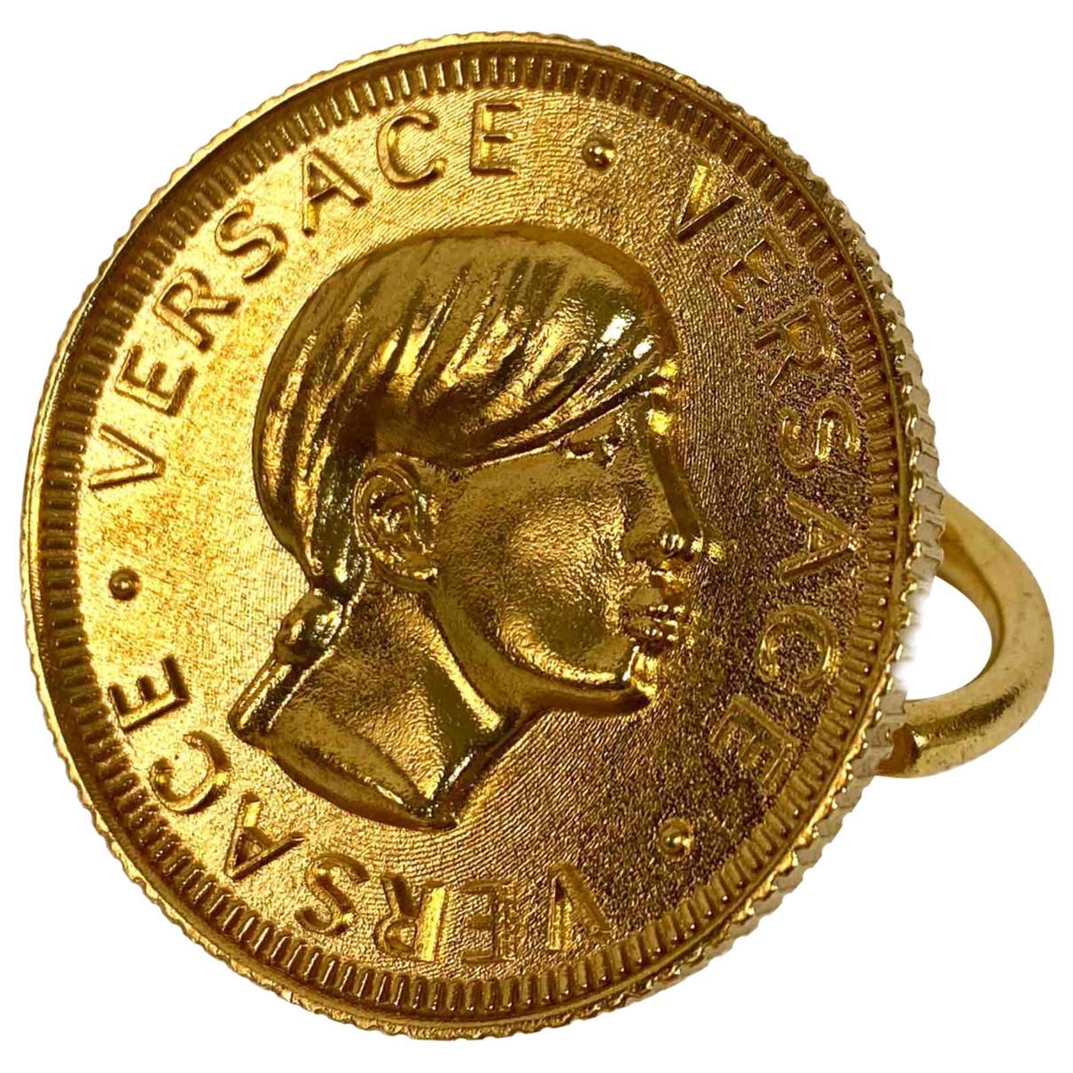 Versace - Bague   pour femme en acier - dore