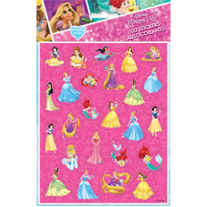 Princess 4 Stickers Sheets/Favors For Birthday Party