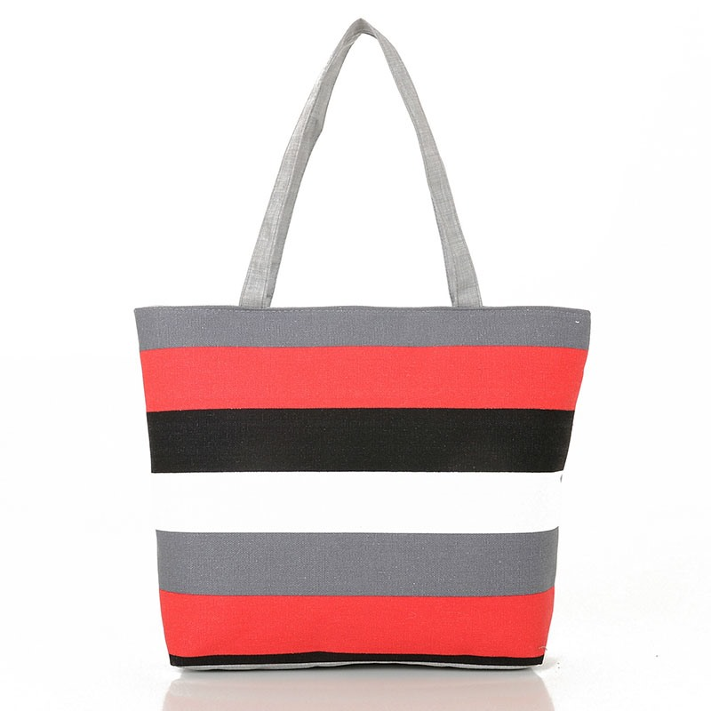 Ericdress Casual Stripe Canvas Handbag