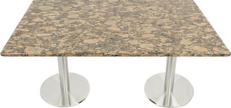 G217 30X48-SS14-17D 30x48 Giallo Fiorito Granite Tabletop with 17