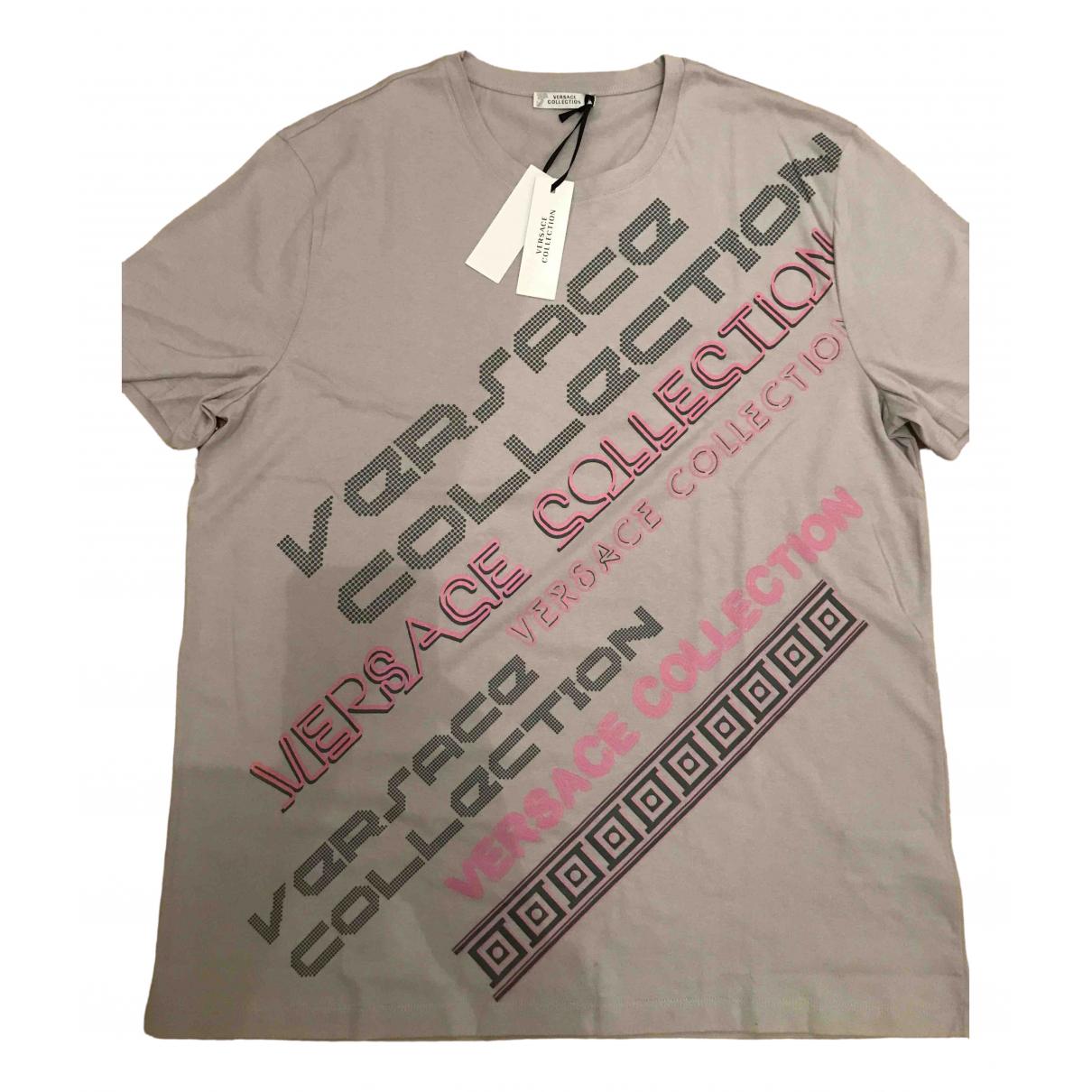 Versace - Tee shirts   pour homme en coton - beige