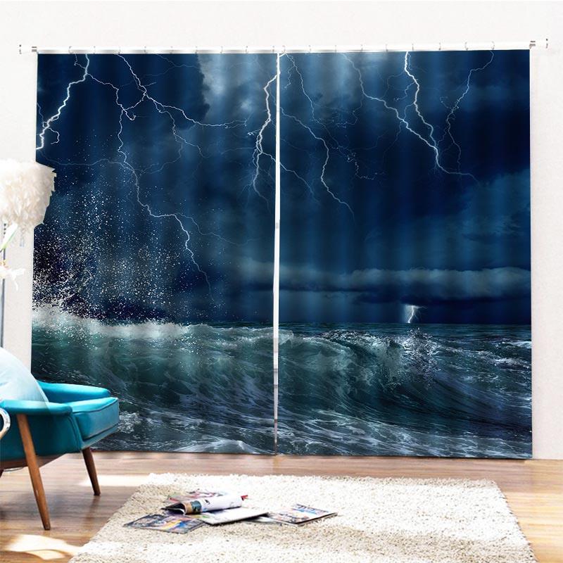 Beddinginn Ultraviolet-Proof Modern Sea Curtains/Window Screens