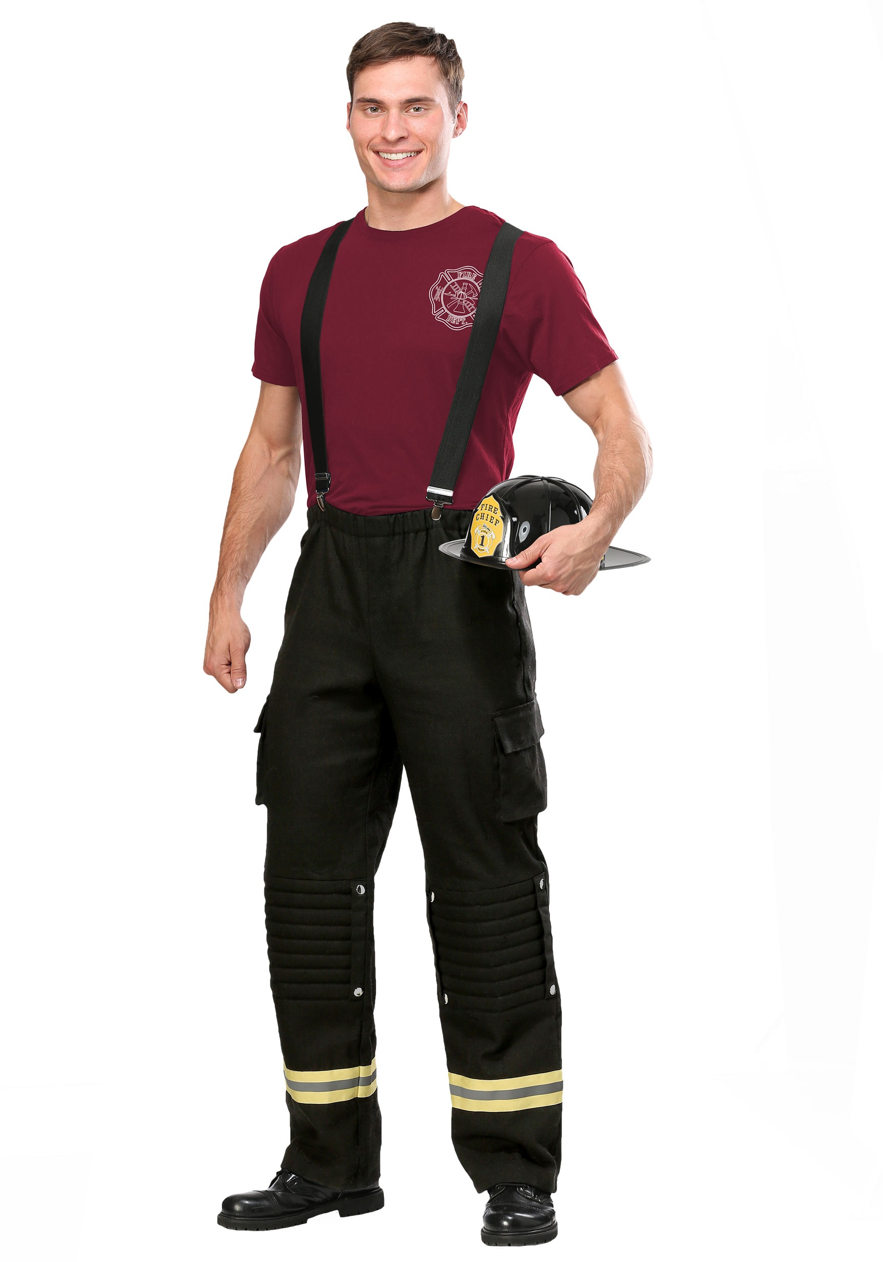 Fire Captain Plus Size Costume for Men 2X