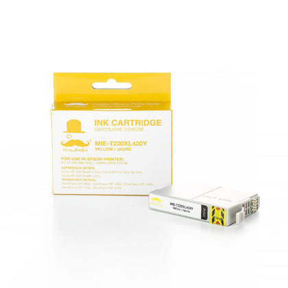 Compatible Epson WorkForce WF-2630 Yellow Ink Cartridge High Yield - Moustache