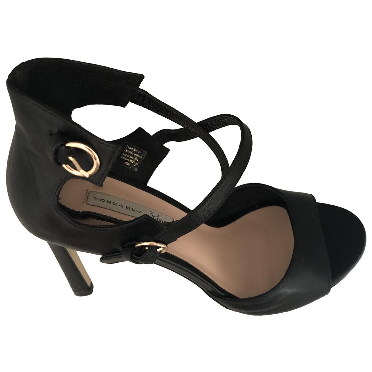 Tosca Blu - Escarpins   pour femme en cuir - noir