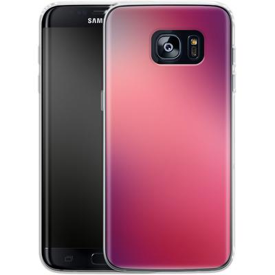 Samsung Galaxy S7 Edge Silikon Handyhuelle - Coral Swirl von #basic
