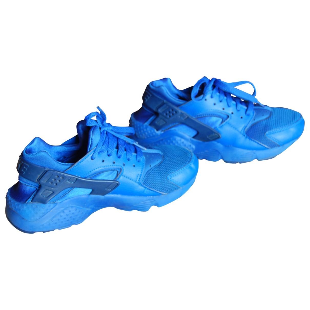 Nike Huarache Blue Leather Trainers for Women 35.5 EU
