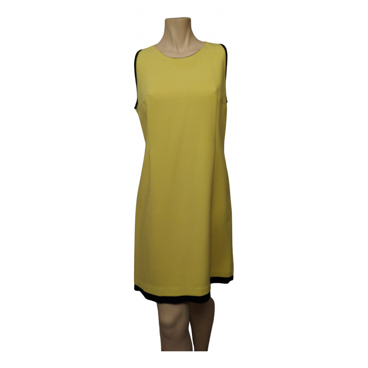 Non Signé / Unsigned \N Yellow Cotton - elasthane dress for Women 44 IT