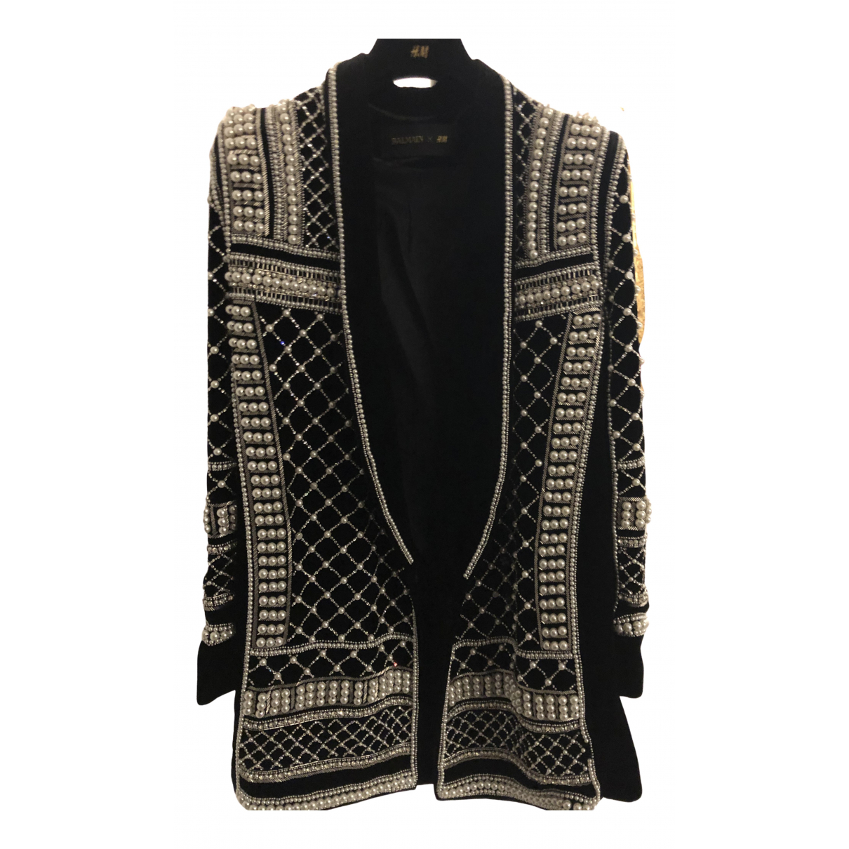 Balmain For H&m \N Jacke in Samt