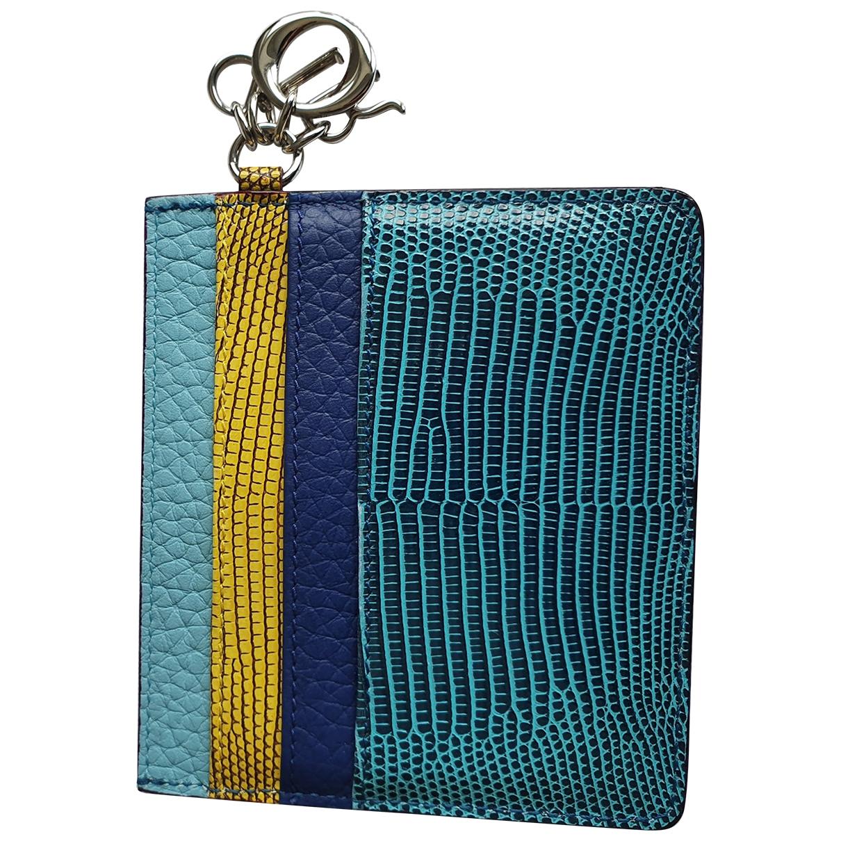 Dior \N Kleinlederwaren in  Blau Echse