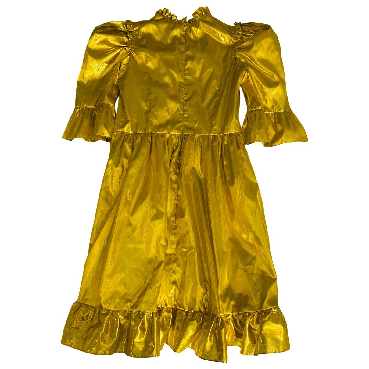 Batsheva \N Kleid in  Gold Synthetik