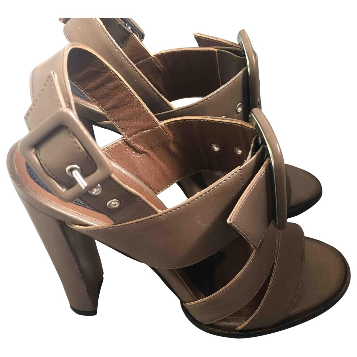 Marni \N Beige Leather Heels for Women 35 EU