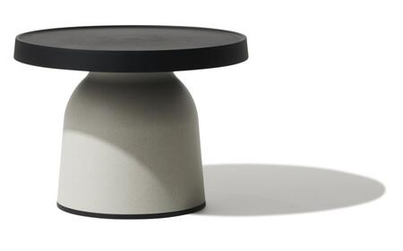 Top Thick TO-1830B-1833ELB Thick Top Side Table/Low-Black Top & Eco Light Brown