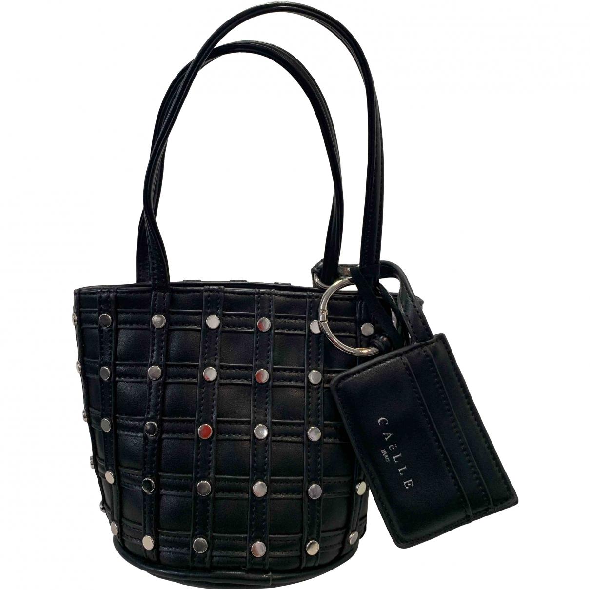 Gaelle Paris \N Handtasche in  Schwarz Leder