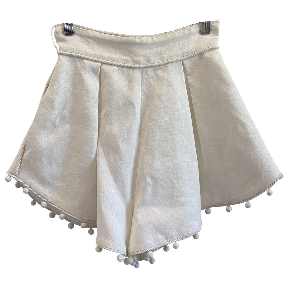 Zimmermann \N Shorts in  Weiss Leinen