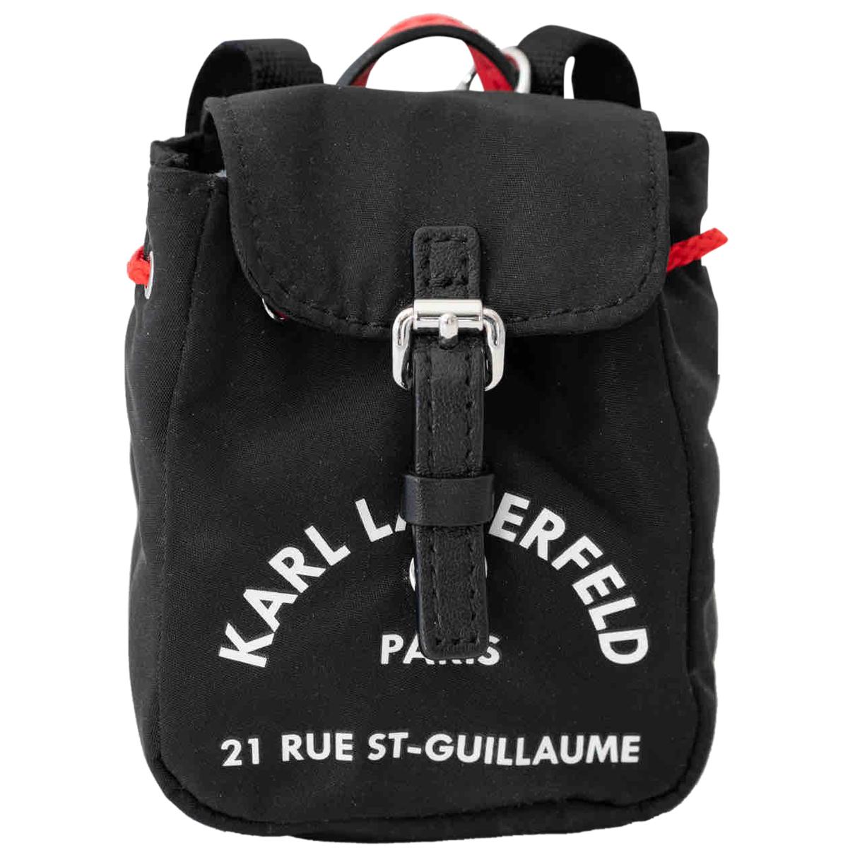 Karl Lagerfeld \N Taschenschmuck in  Schwarz Leinen