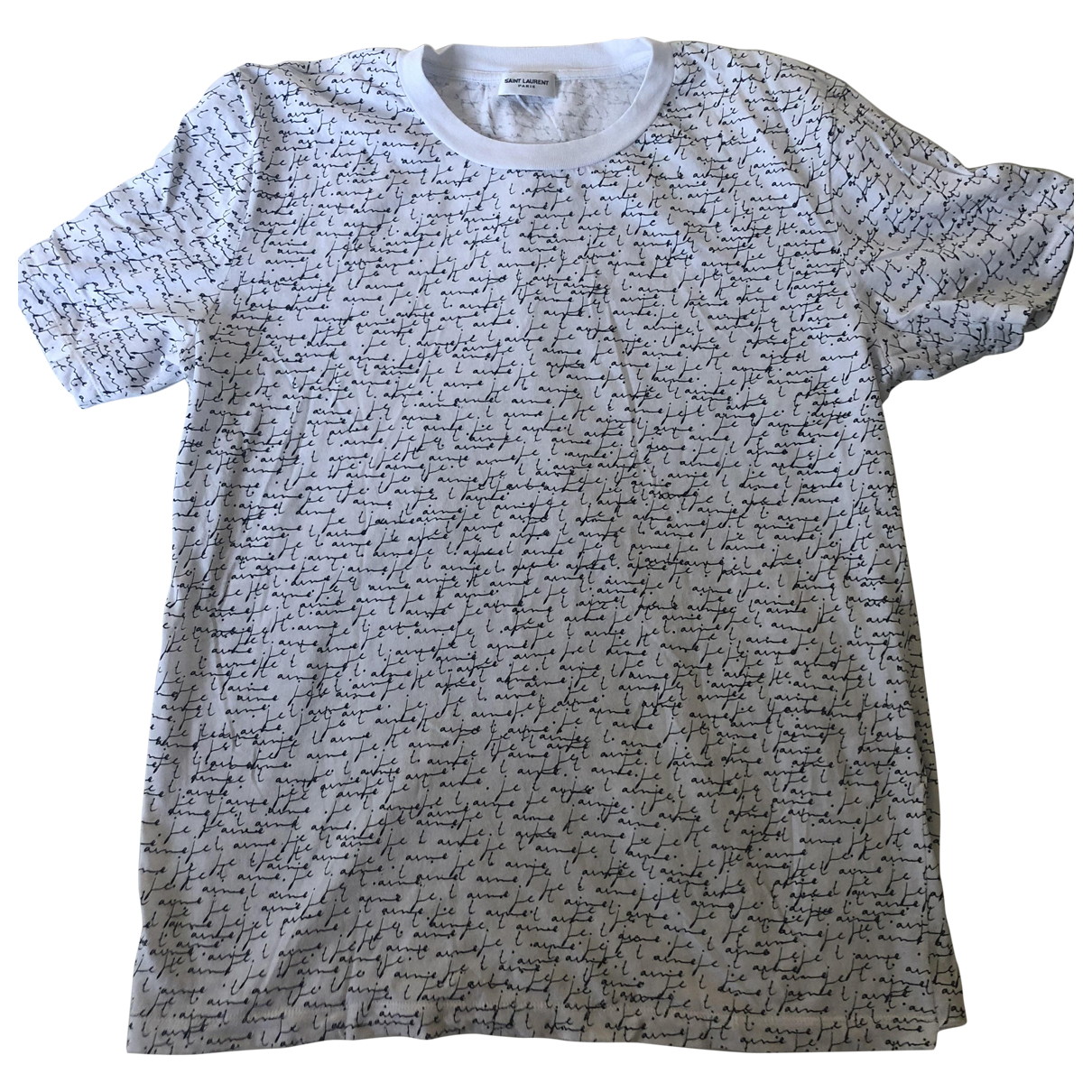 Saint Laurent - Top   pour femme en coton - blanc
