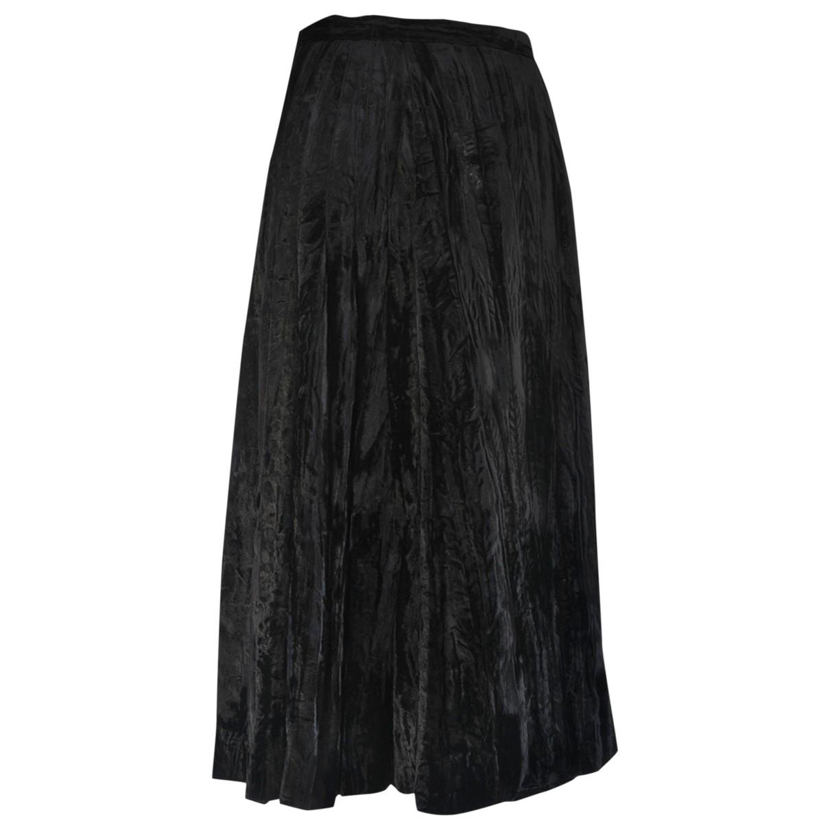 Yves Saint Laurent N Black Velvet skirt for Women 34 FR