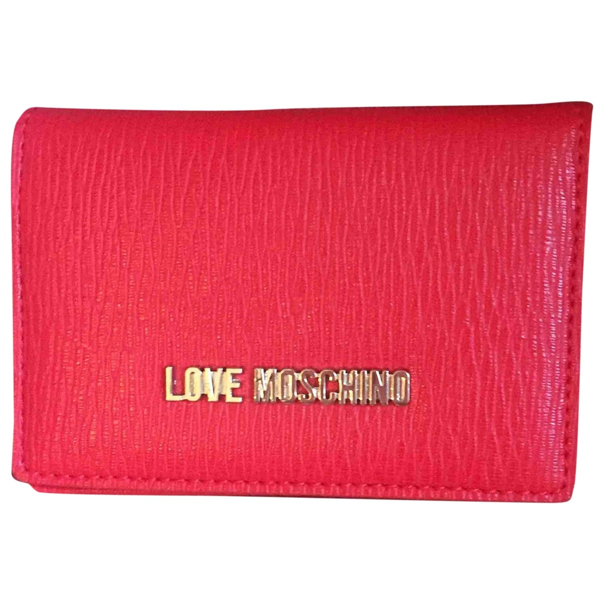 Moschino Love \N Red Leather wallet for Women \N