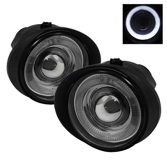 Spyder Auto FL-P-NA02-HL-SM Smoke Halo Projector Fog Lights with Switch Infiniti FX35 03-06