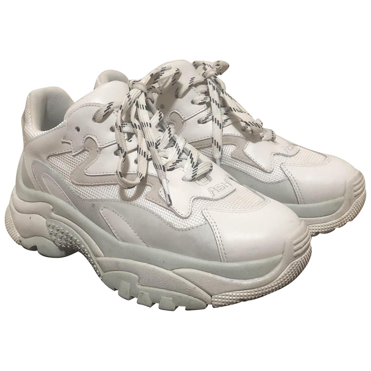 Ash \N Sneakers in  Weiss Leder
