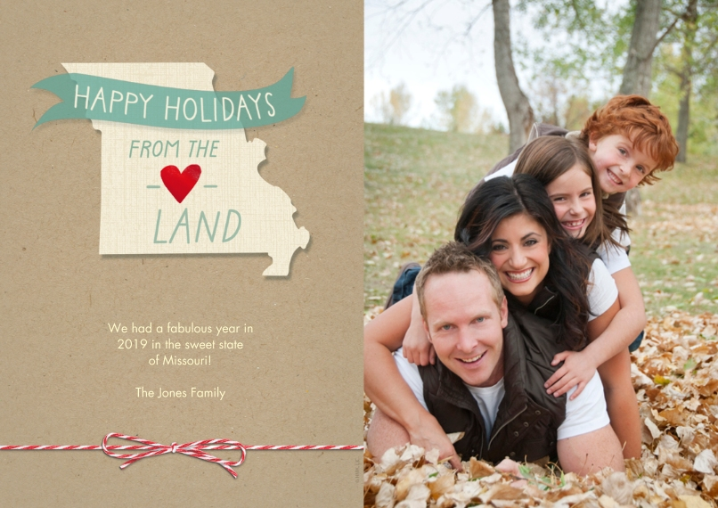 Christmas Photo Cards Flat Matte Photo Paper Cards with Envelopes, 5x7, Card & Stationery -Happy Holidays From the Heartland by Hallmark