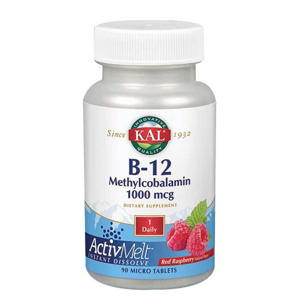 B-12 Methylcobalamin ActivMelt 90 Tabs by Kal