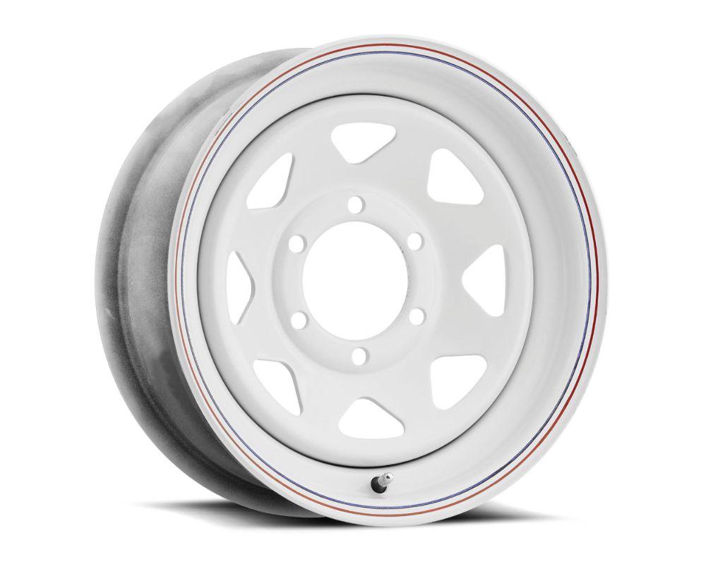Vision 8 Spoke Steel Wheel 16x6 8x165.1 0mm White