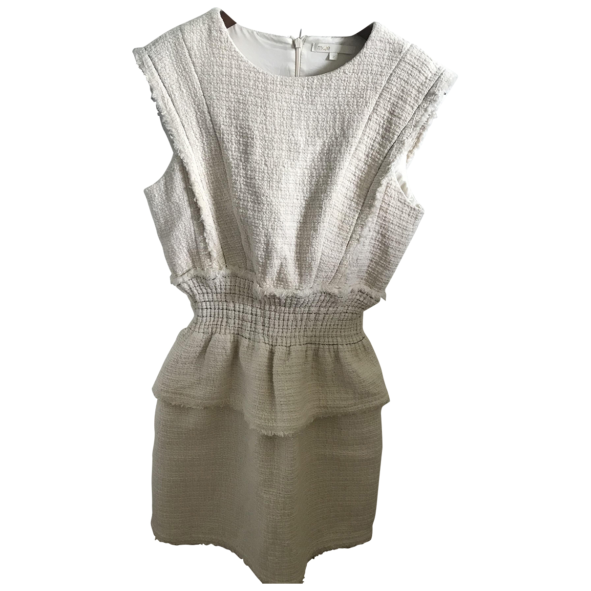 Maje \N Kleid in  Ecru Tweed