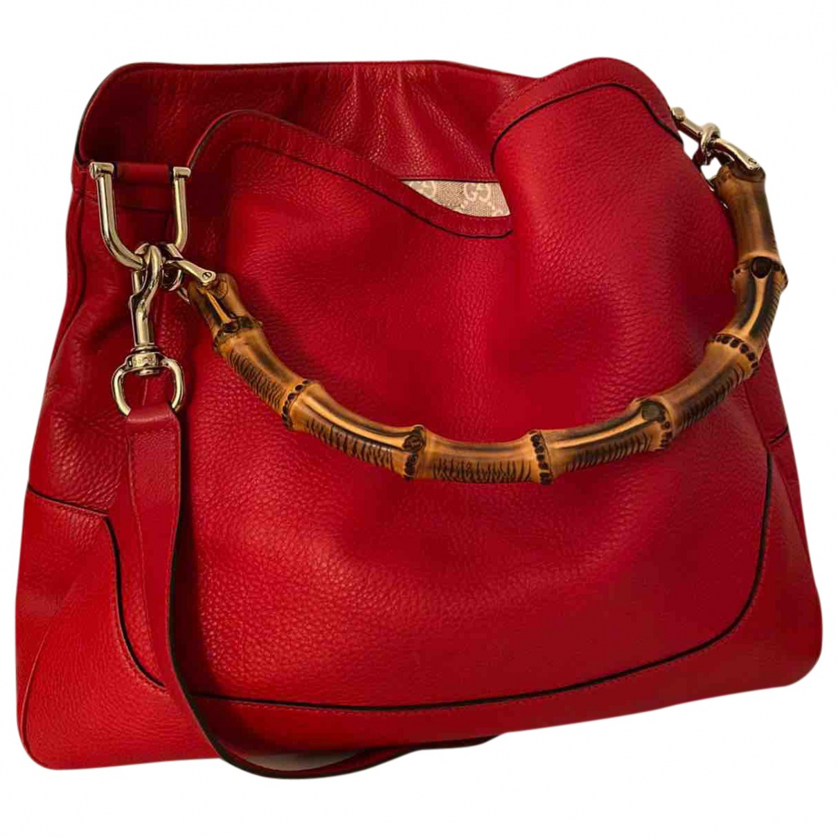 Gucci Bamboo Red Leather handbag for Women \N