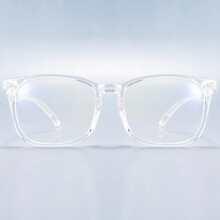 Gafas de hombres de marco acrilico transparente